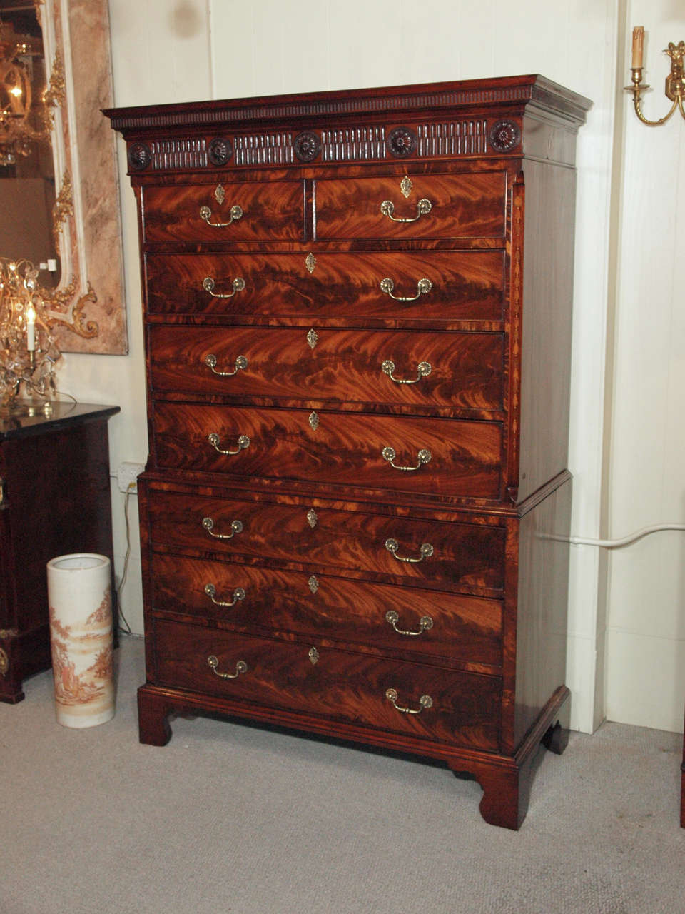 Antique English Chest on Chest 2