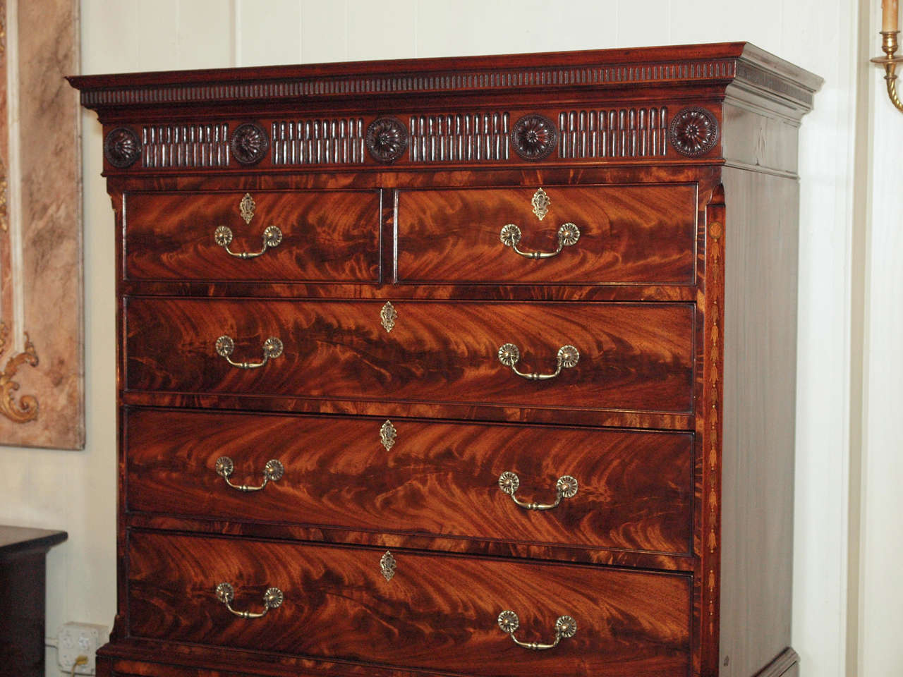Antique English Chest on Chest 3