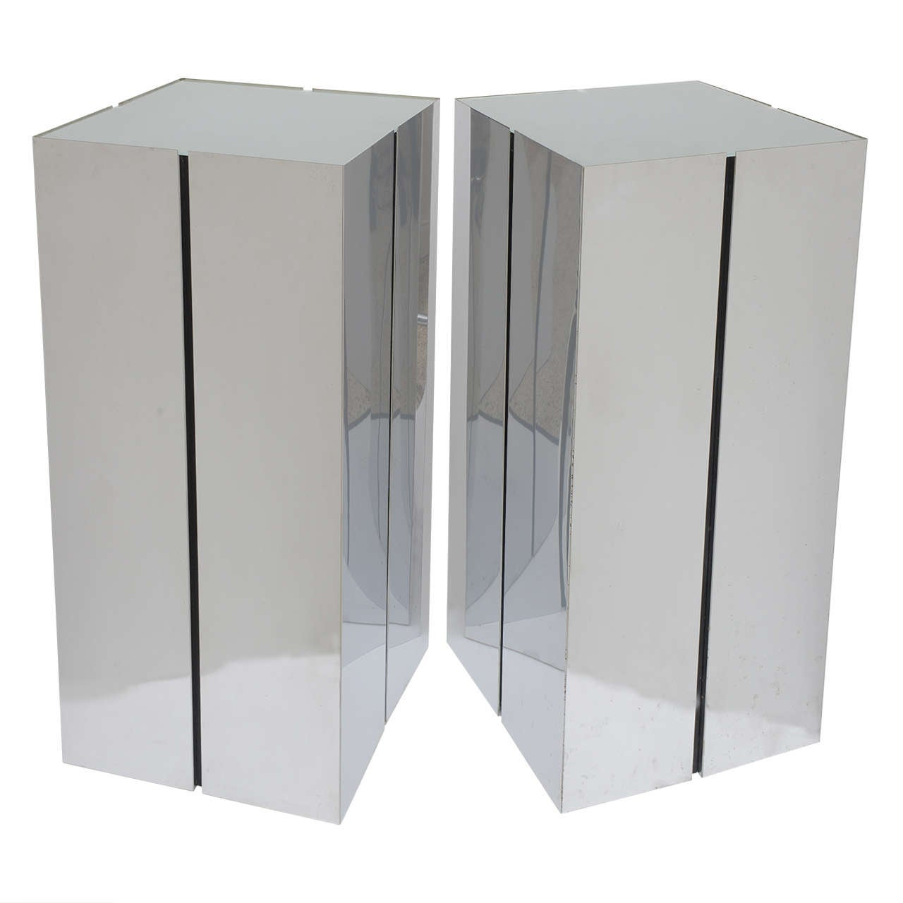 Pair of Lighted Pedestals by Neal Small for George Kovacs For Sale
