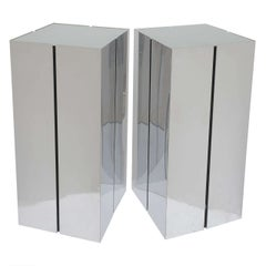 Pair of Lighted Pedestals by Neal Small for George Kovacs