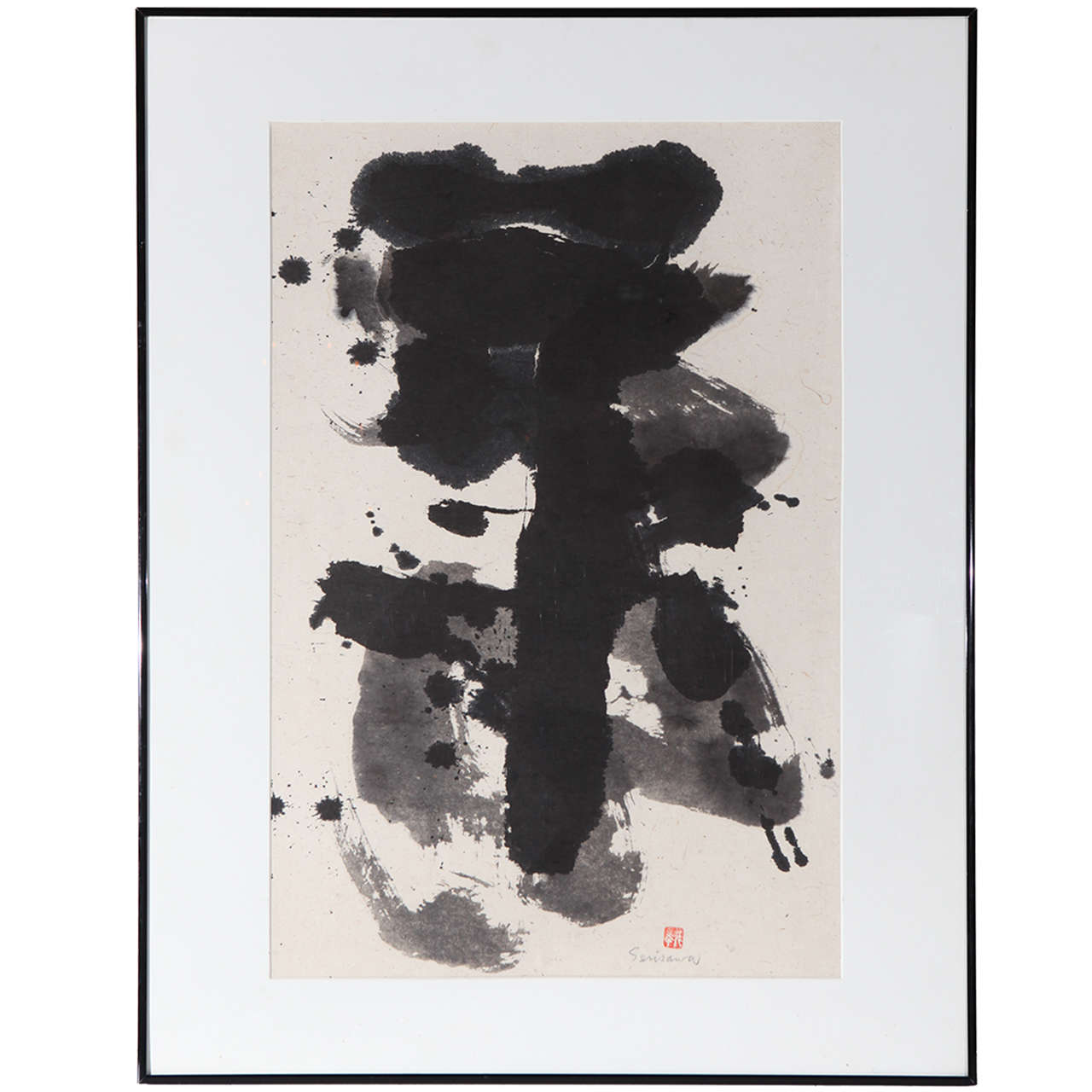 Original, 1980s, Sumi Ink Drawing