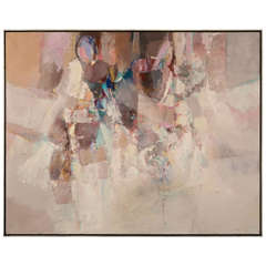 Pastel Abstract Painting by O. Ventura