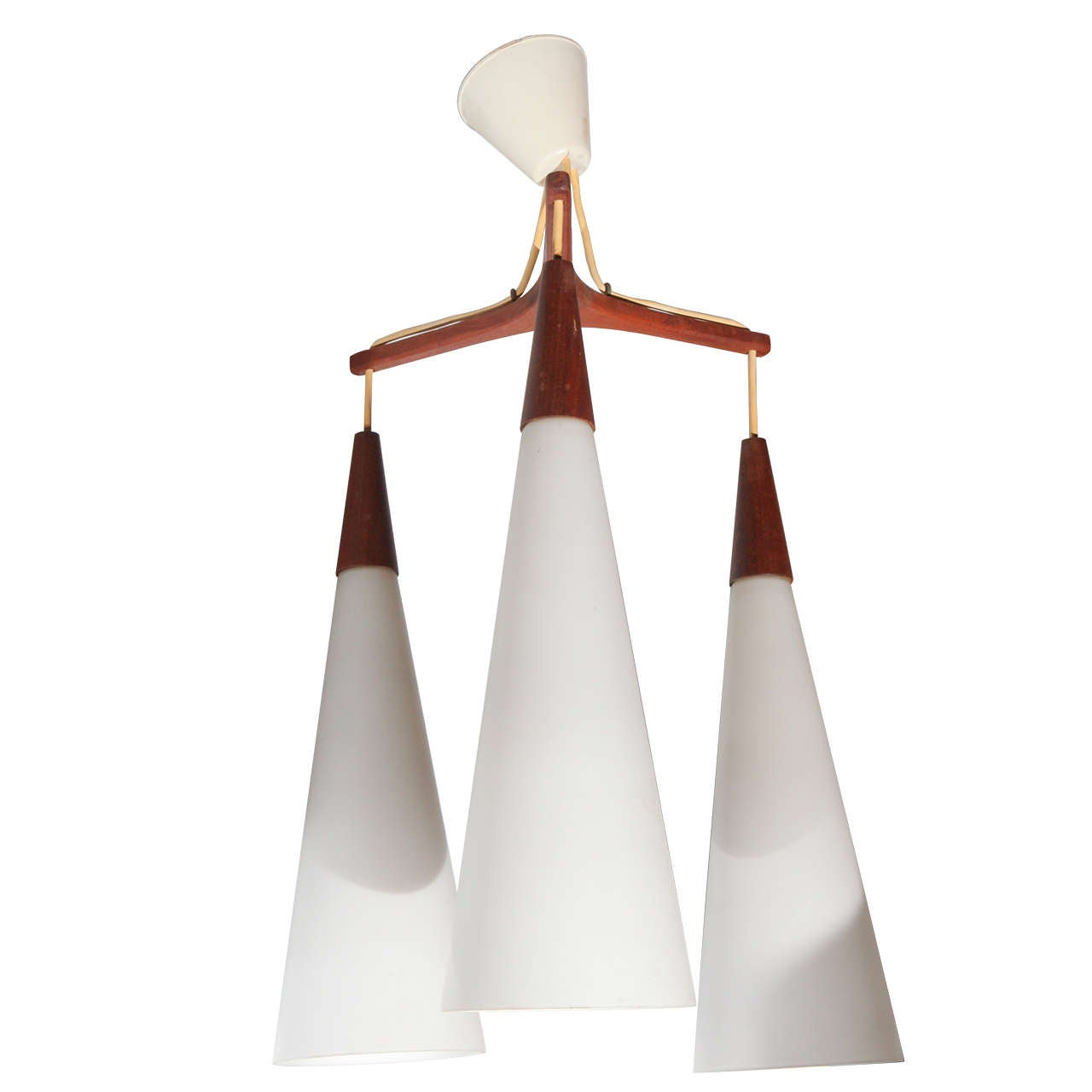 Mid century modern danish hanging light at 1stdibs for Mid century modern hanging lamp