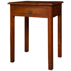 Mahogany Single Drawer Side Table