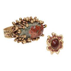 Pal Kepenyes Bronze and Stone Bracelet