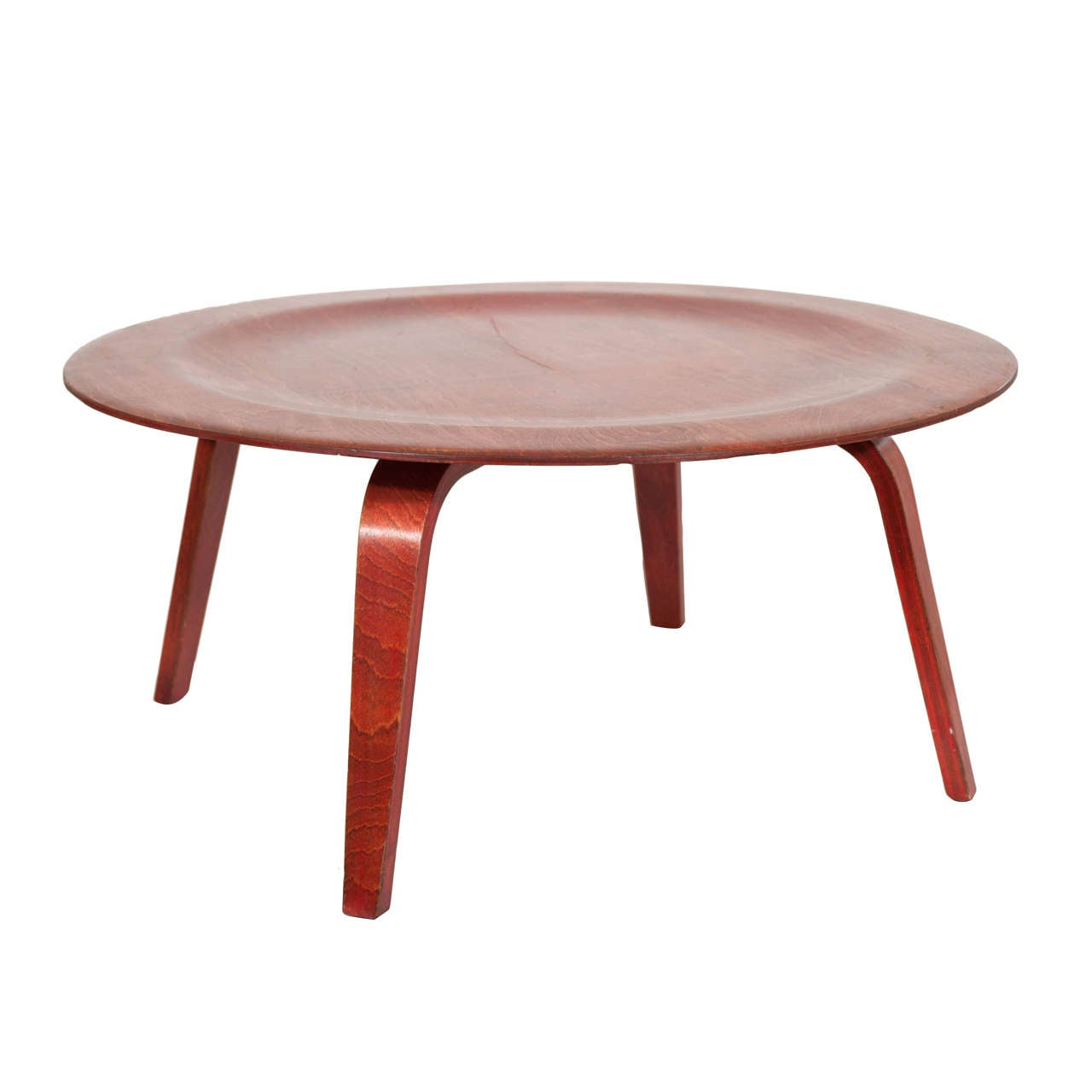 charles eames ctw coffee table with red aniline finish at. Black Bedroom Furniture Sets. Home Design Ideas
