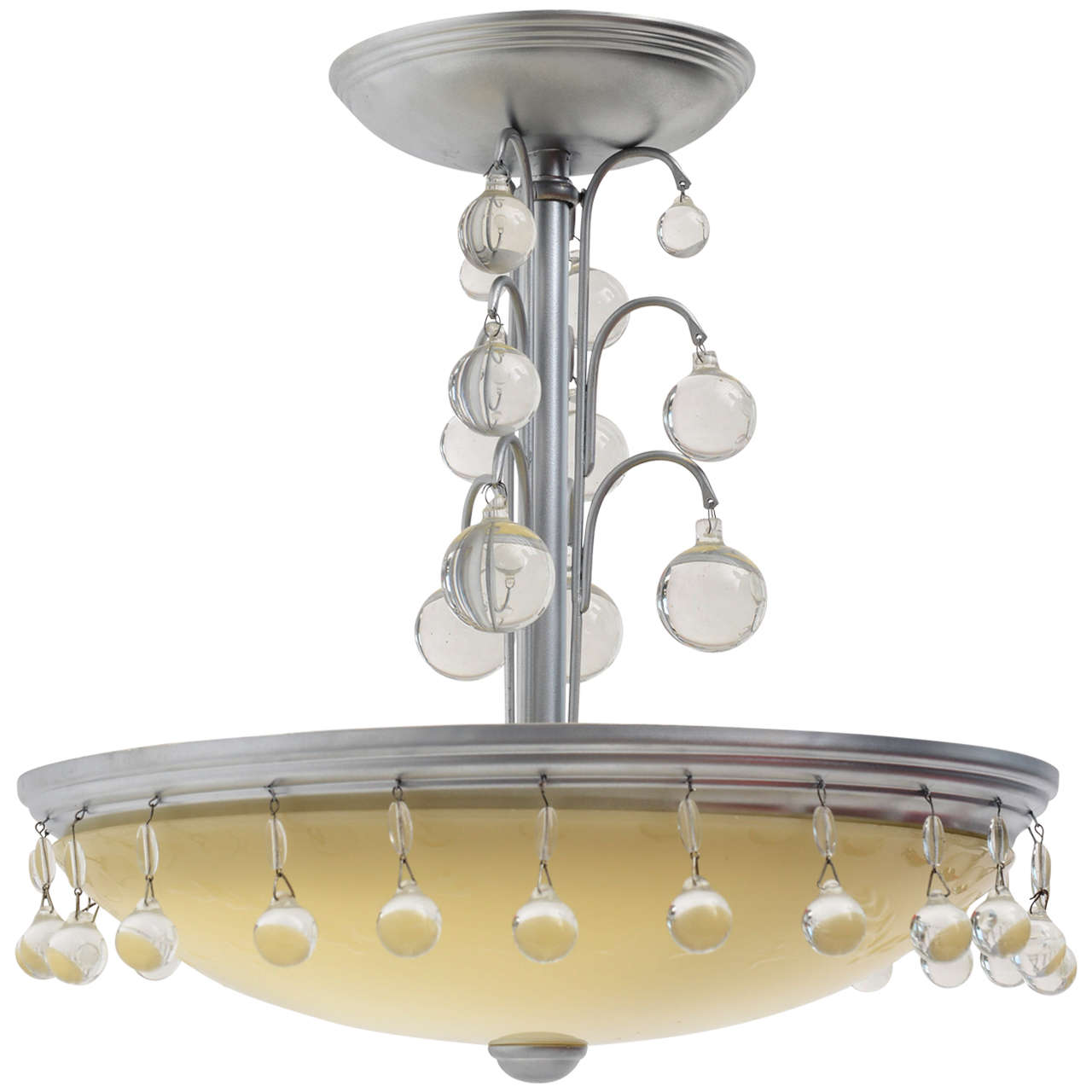 Whimsical Art Deco Hanging Chandelier Light Fixture At 1stdibs