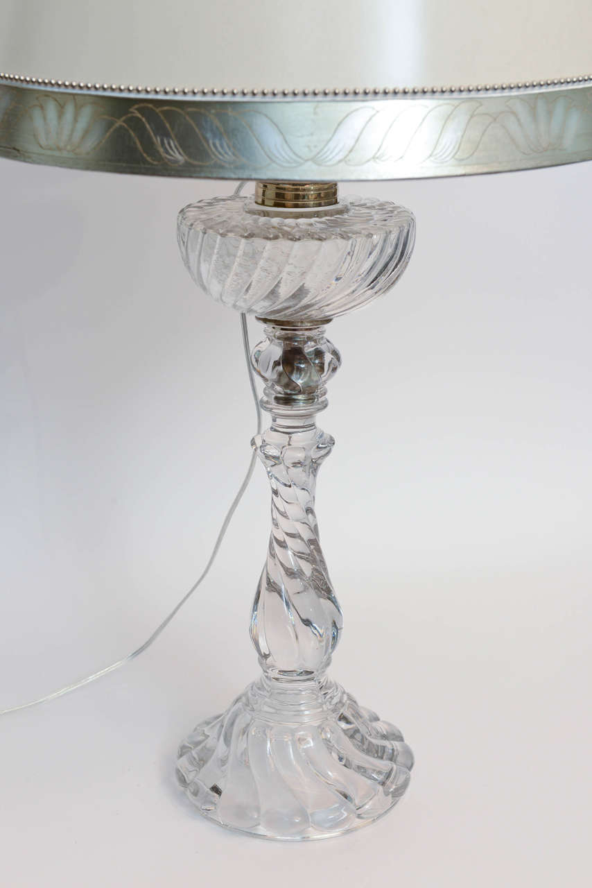 pair of 19th century baccarat crystal lamps for sale at 1stdibs. Black Bedroom Furniture Sets. Home Design Ideas