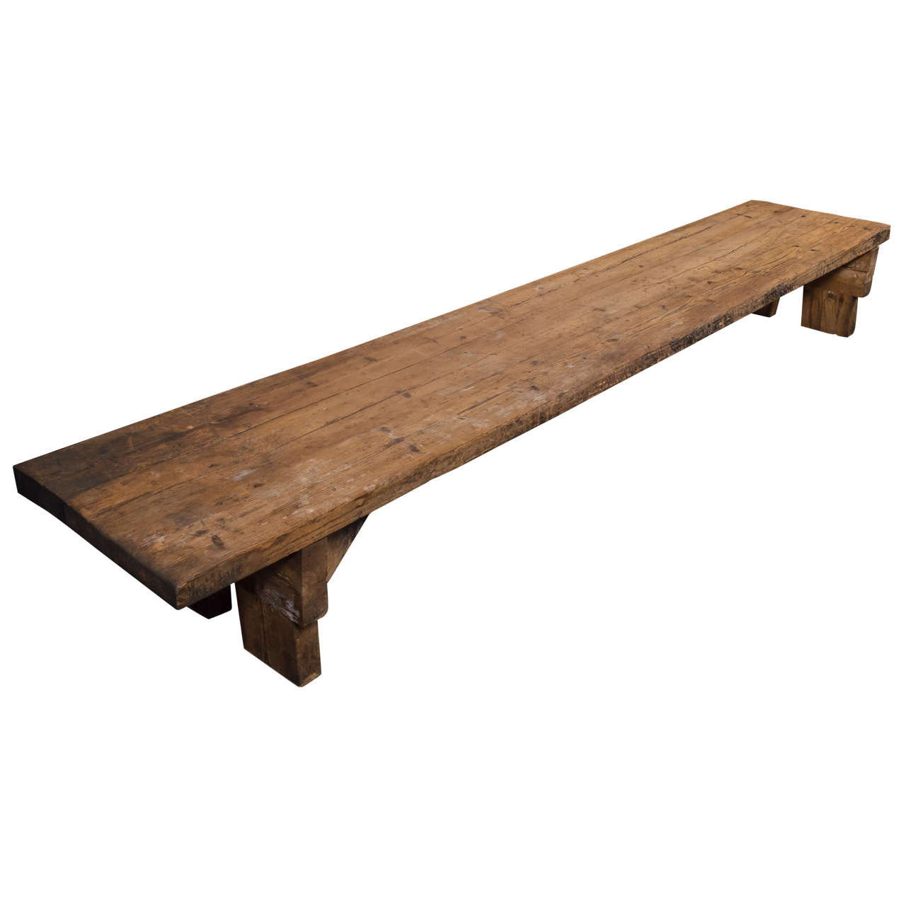 Large Primitive Coffee Table At 1stdibs