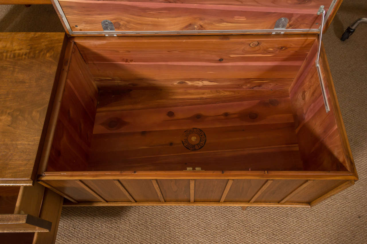 Lane Bench and Chest of Drawers in Walnut at 1stdibs