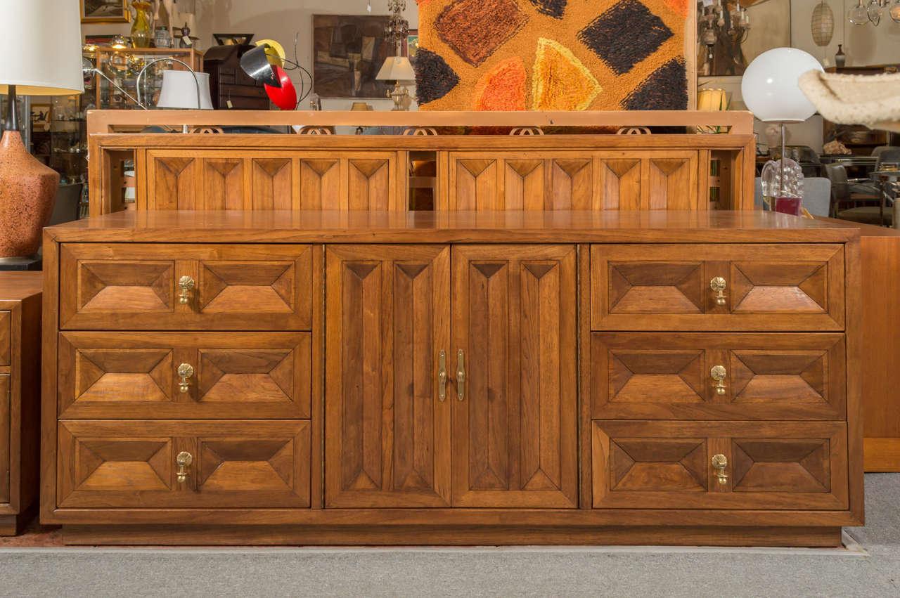 American of martinsville spanish revival walnut king for American walnut bedroom furniture