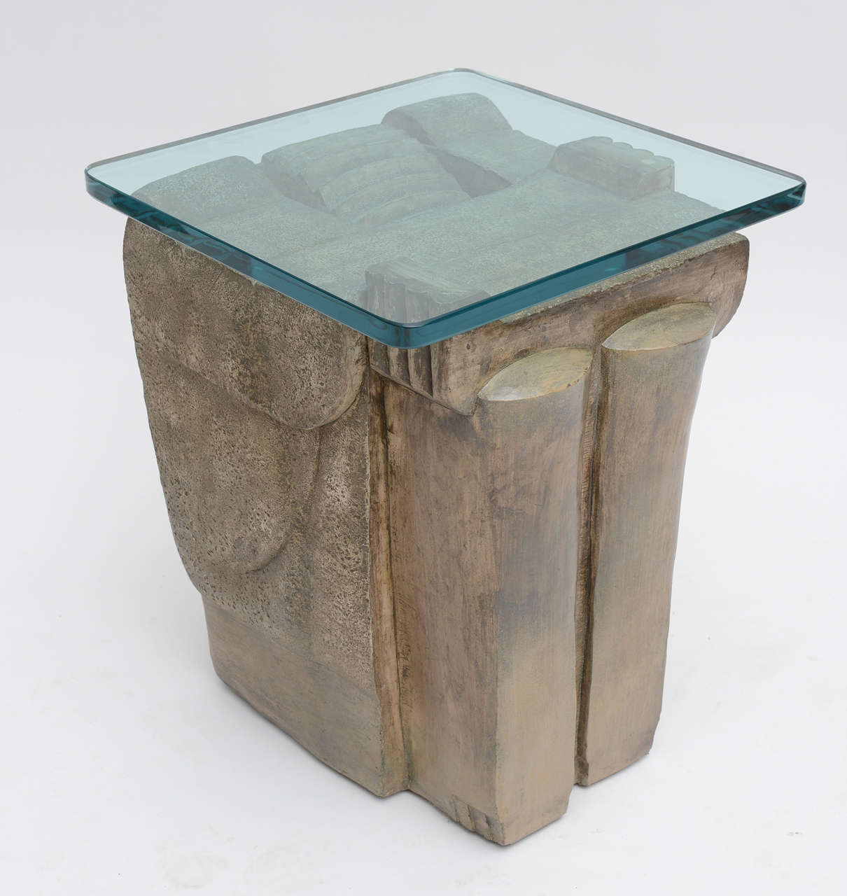 Composition 1970's Formed  Stone Tables For Sale