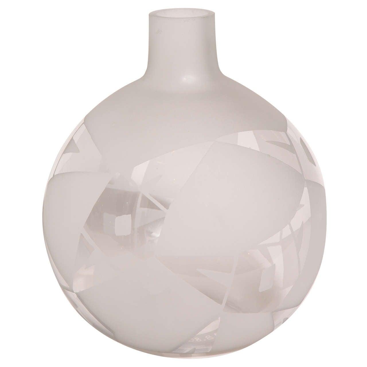 boris lacroix deco glass vase