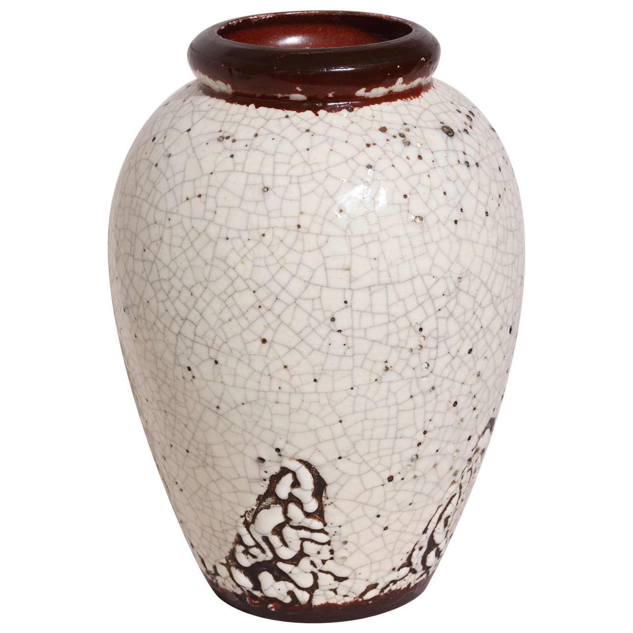 Jean Besnard French Art Deco Stoneware Vase