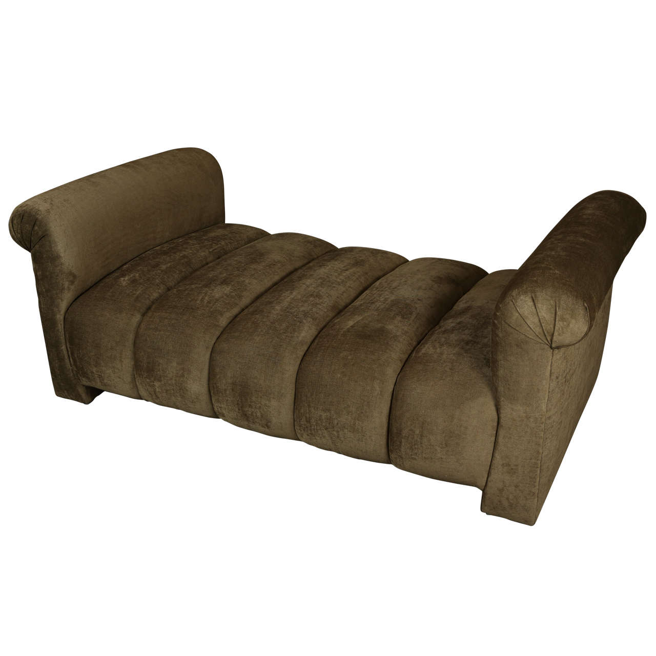 Custom designed large upholstered chaise lounge day bed for Large chaise longue