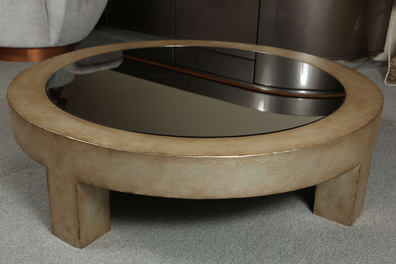 Beautiful Wood And Glass Coffee Table By James Mont At 1stdibs