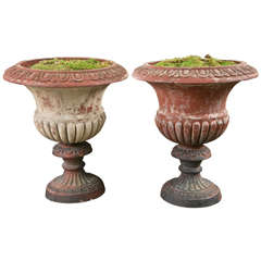 Pair of Terracotta Campana Style Urns