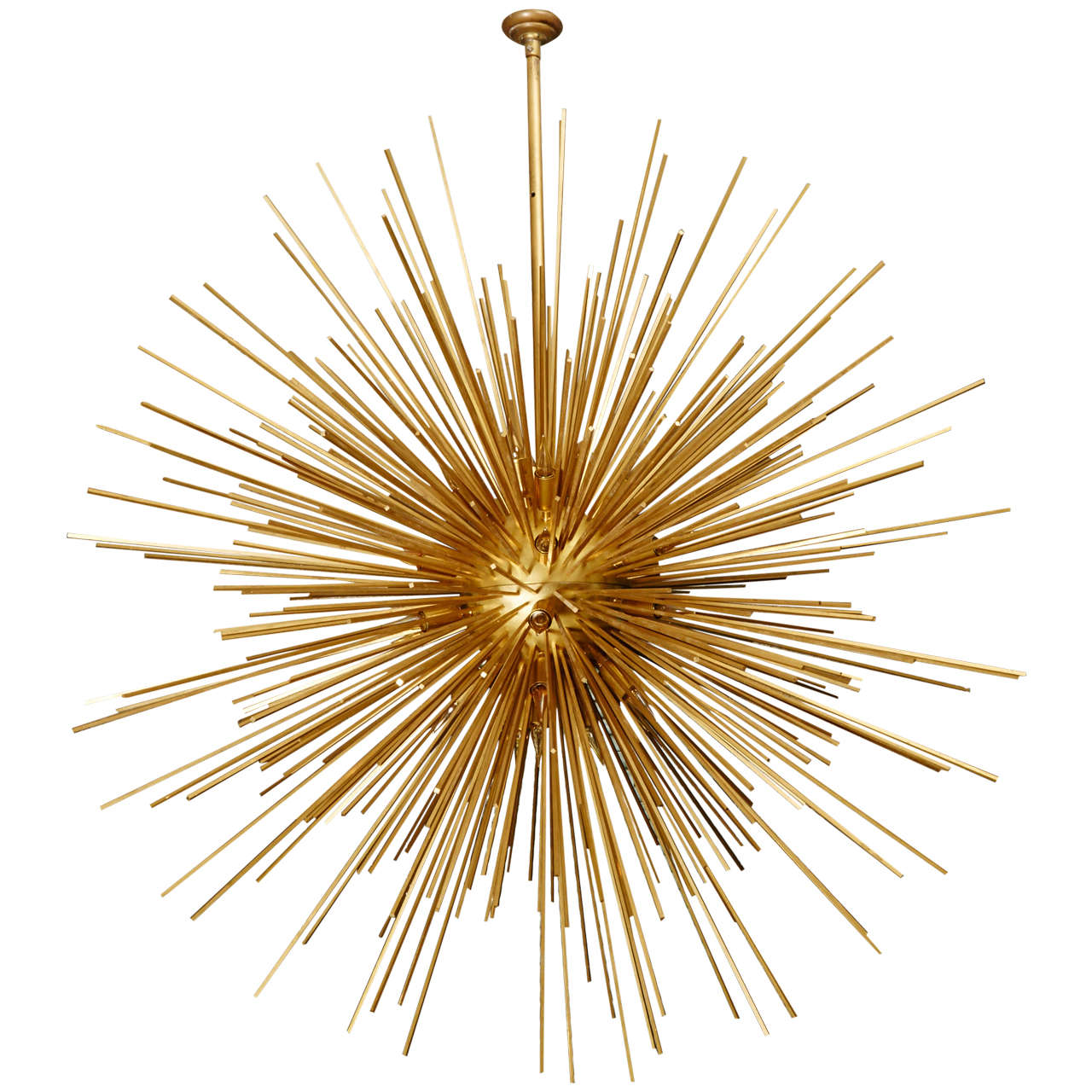 Stunning sun chandelier with brass peaks for sale at 1stdibs stunning sun chandelier with brass peaks for sale arubaitofo Image collections