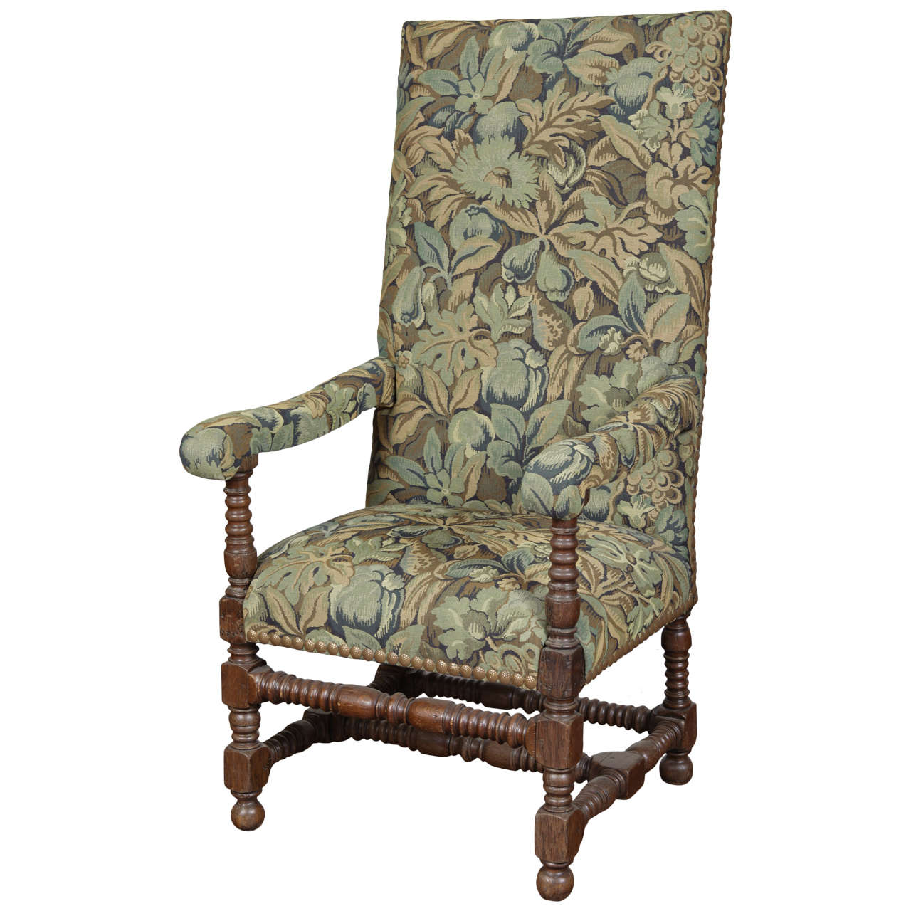 Louis XIII Style Tall-Back Armchair