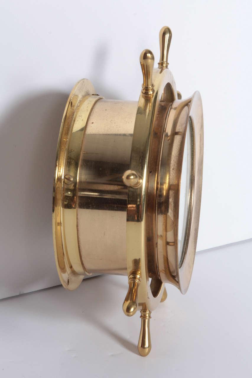 Helmsman Seth Thomas Brass Marine Wall Clock For Sale At