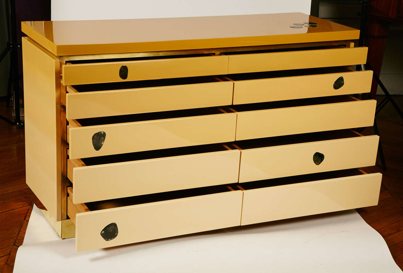 Late 20th Century 1970s Chest of Drawers by Jean Claude Mahey For Sale