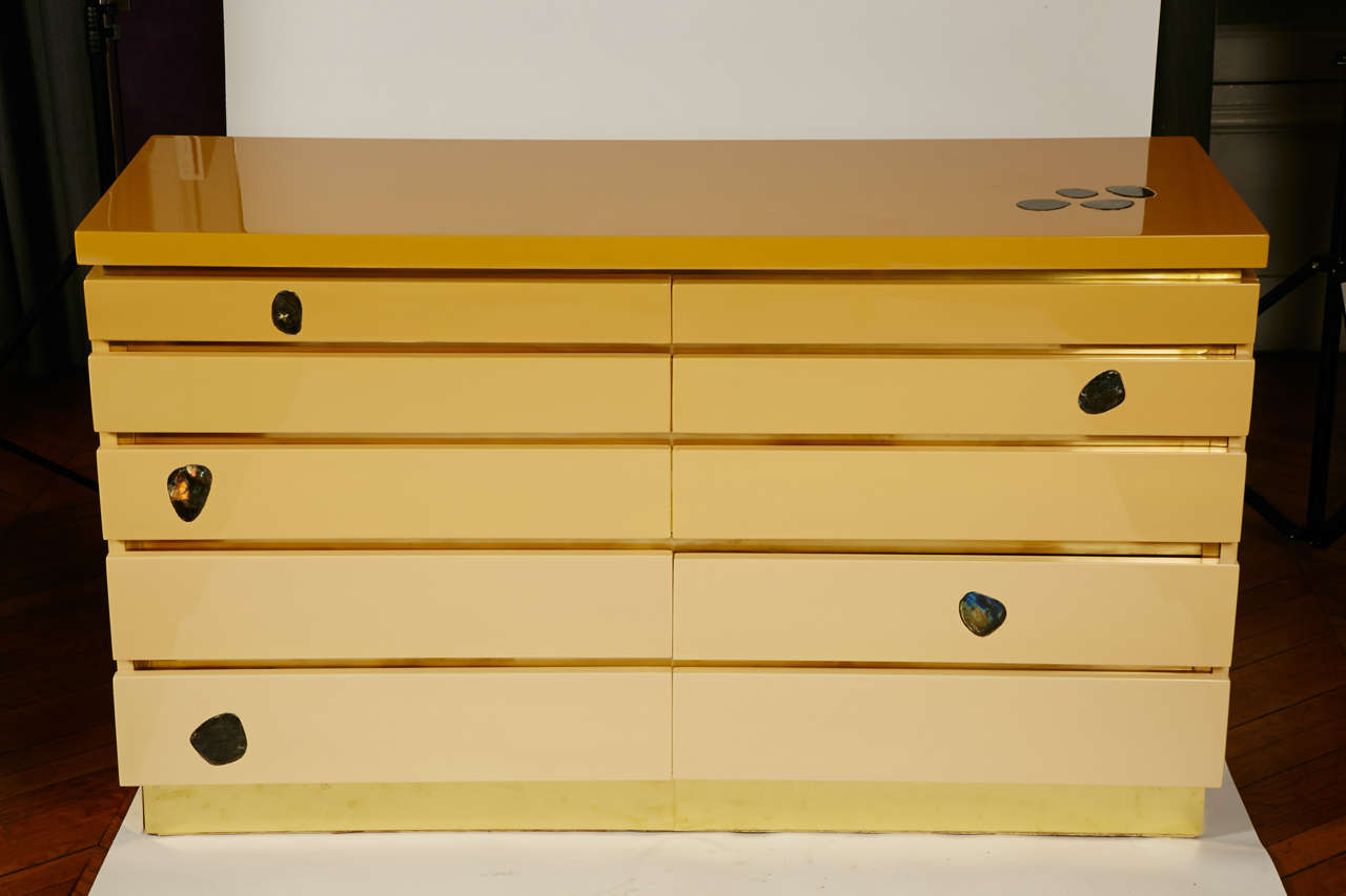 1970s Chest of Drawers by Jean Claude Mahey For Sale 4