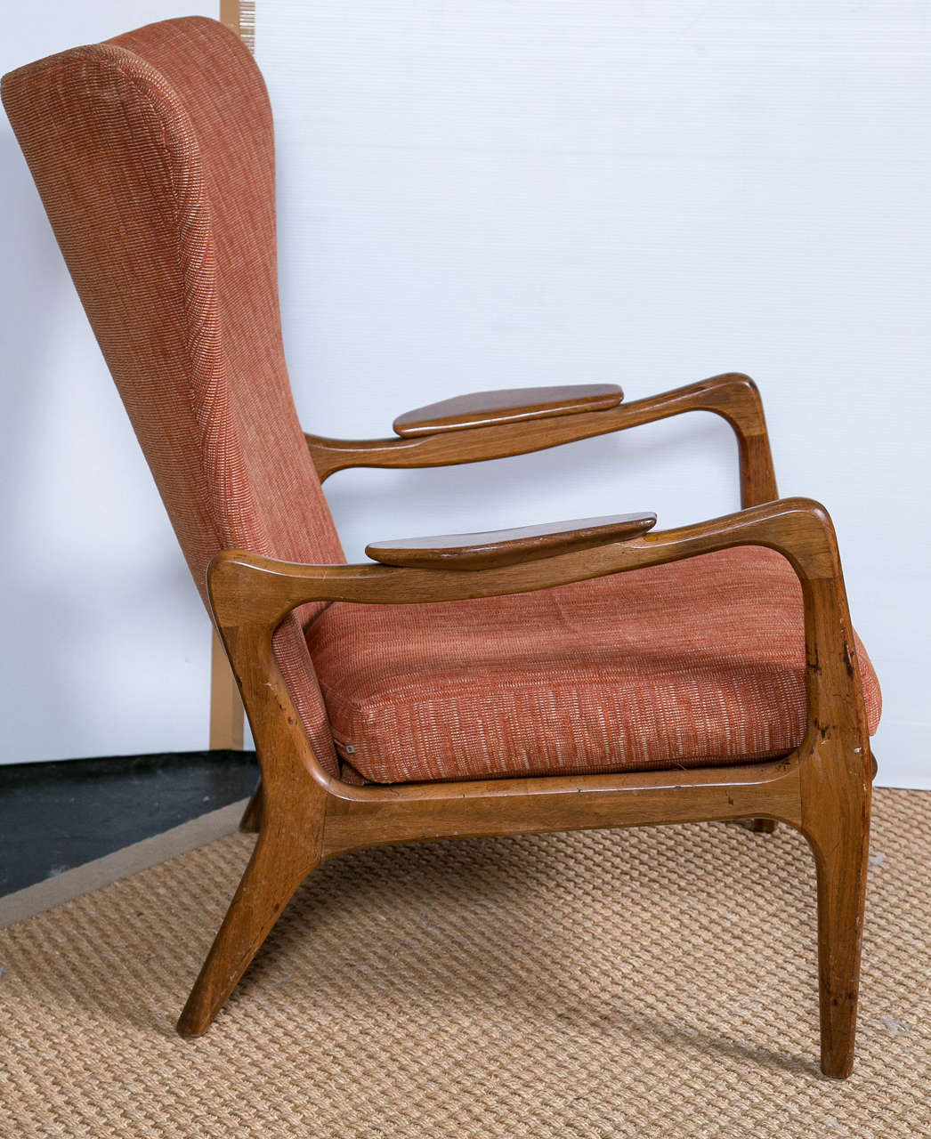 Adrian Pearsall Attributed To Wing Back Lounge Chair And