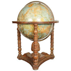 Grand, 19th Century Painted Globe
