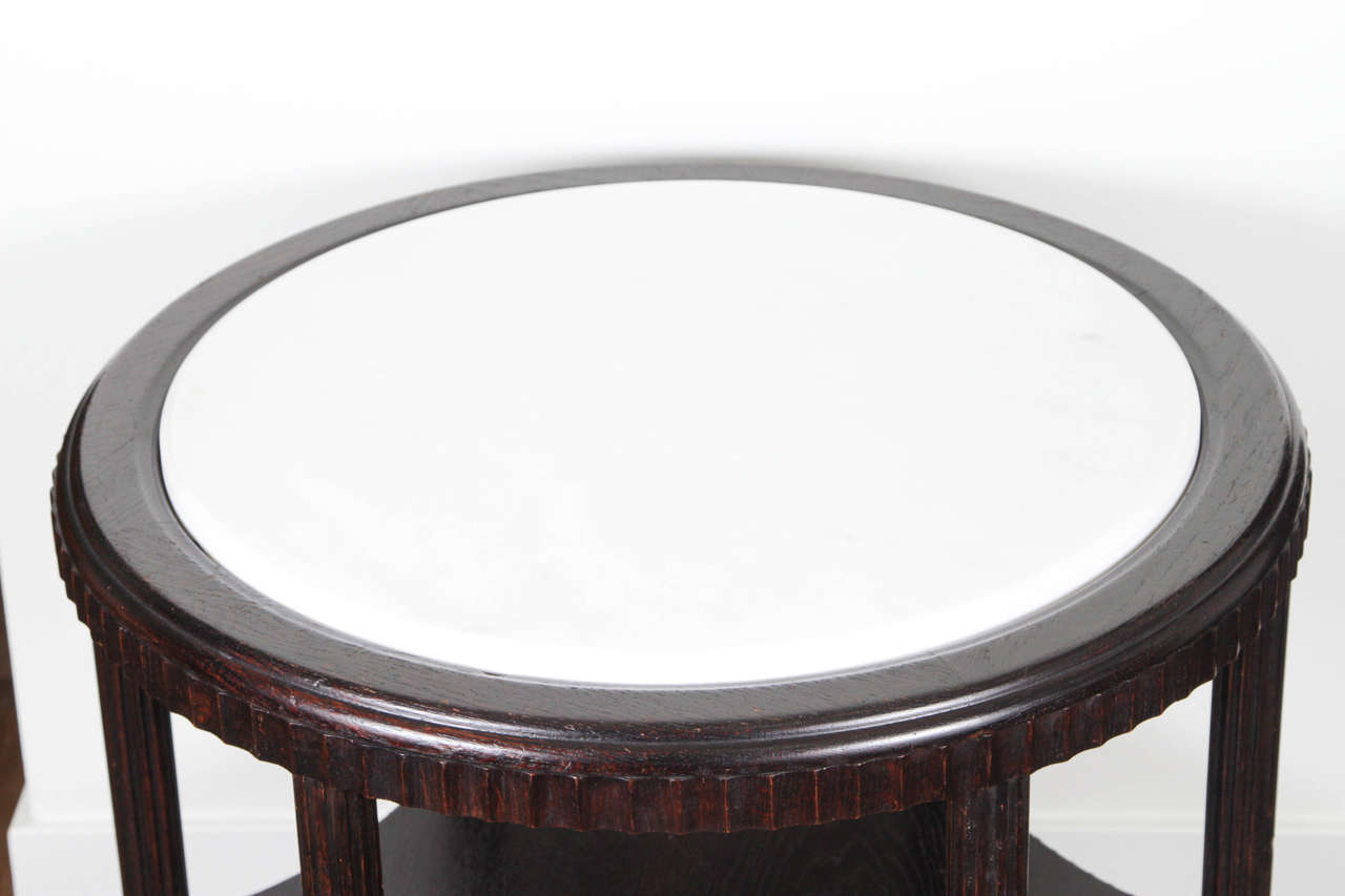 1970 39 s round side table with marble top for sale at 1stdibs for Round marble side table