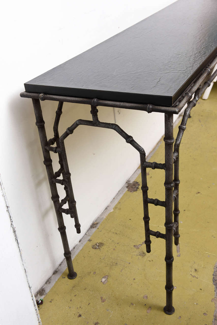 Metal Faux Bamboo Console Table At 1stdibs