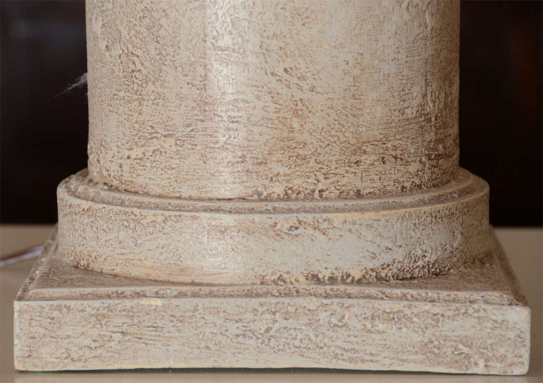 Pair of Lamps Greige Cylinders with Textured Finish 2