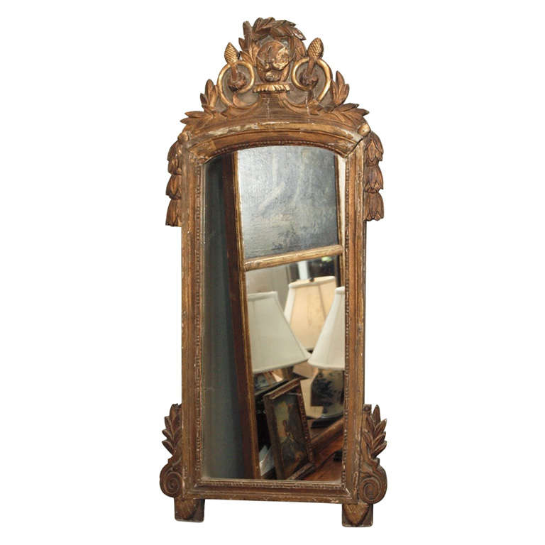 Narrow louis xvi style mirror at 1stdibs for Skinny wall mirror