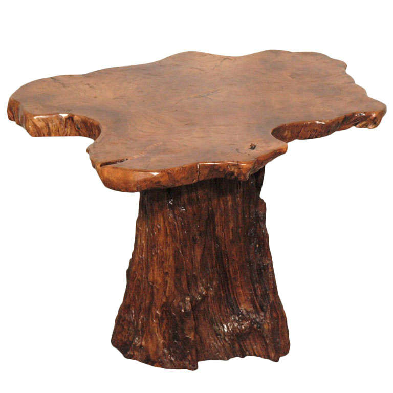 Root End Table: Nakashima Style Root Wood Side Table For Sale At 1stdibs