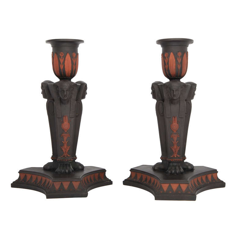 Egyptian Glass Candlesticks