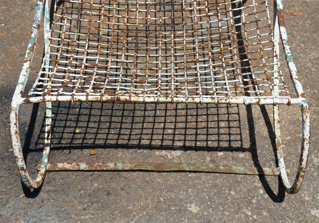 French metal chaise longues at 1stdibs for Chaise longue en aluminium