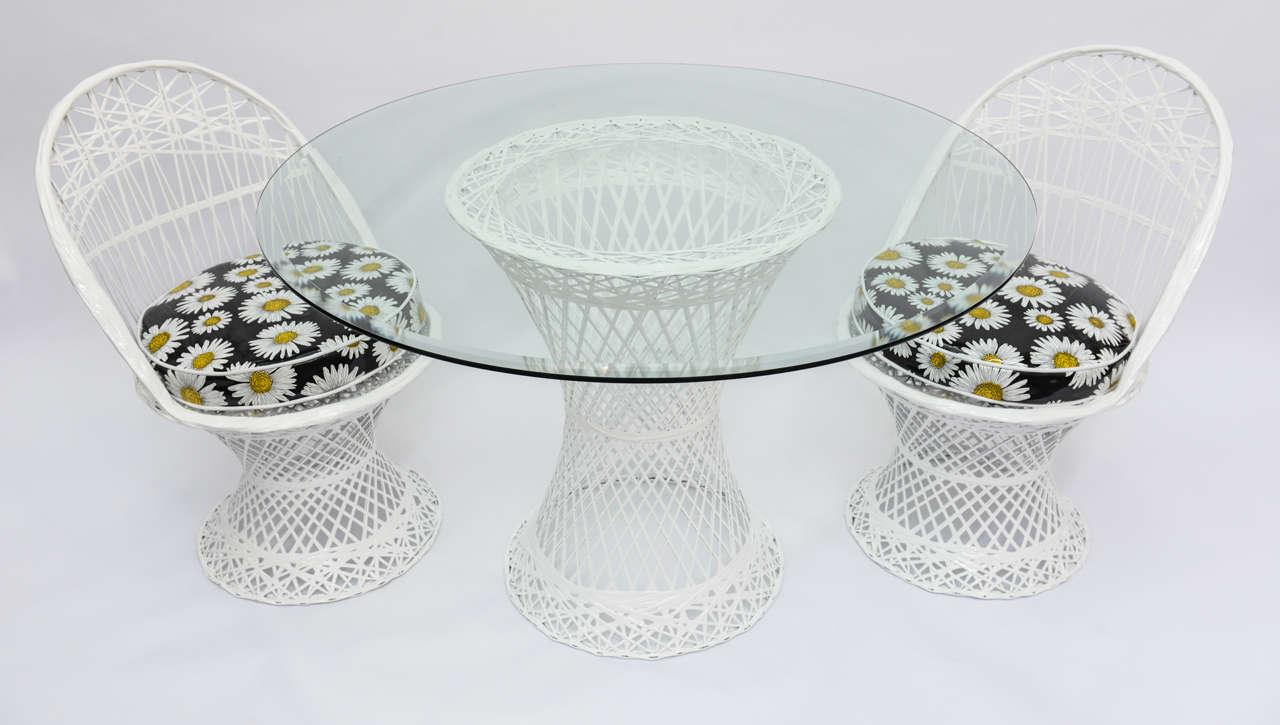 Mid Century Modern Russell Woodard Spun Fiberglass Patio Furniture 3