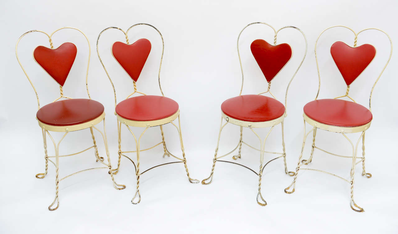 Set of 4 Antique Ice Cream Parlor Chairs 3 - Set Of 4 Antique Ice Cream Parlor Chairs At 1stdibs
