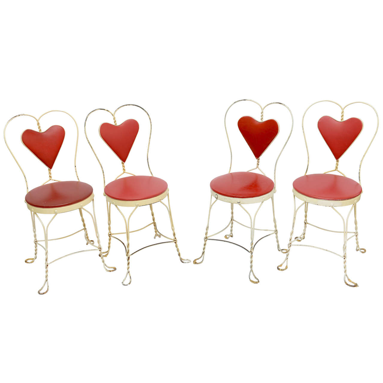 Set of 4 Antique Ice Cream Parlor Chairs 1 - Set Of 4 Antique Ice Cream Parlor Chairs At 1stdibs