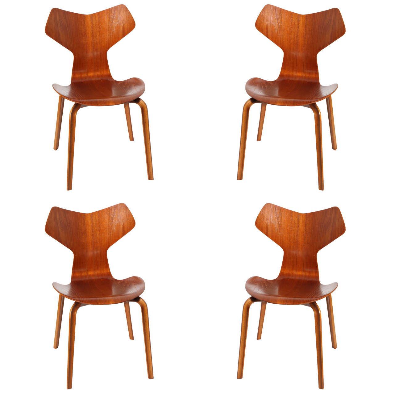 grand prix dining chairs by arne jacobsen set of four. Black Bedroom Furniture Sets. Home Design Ideas