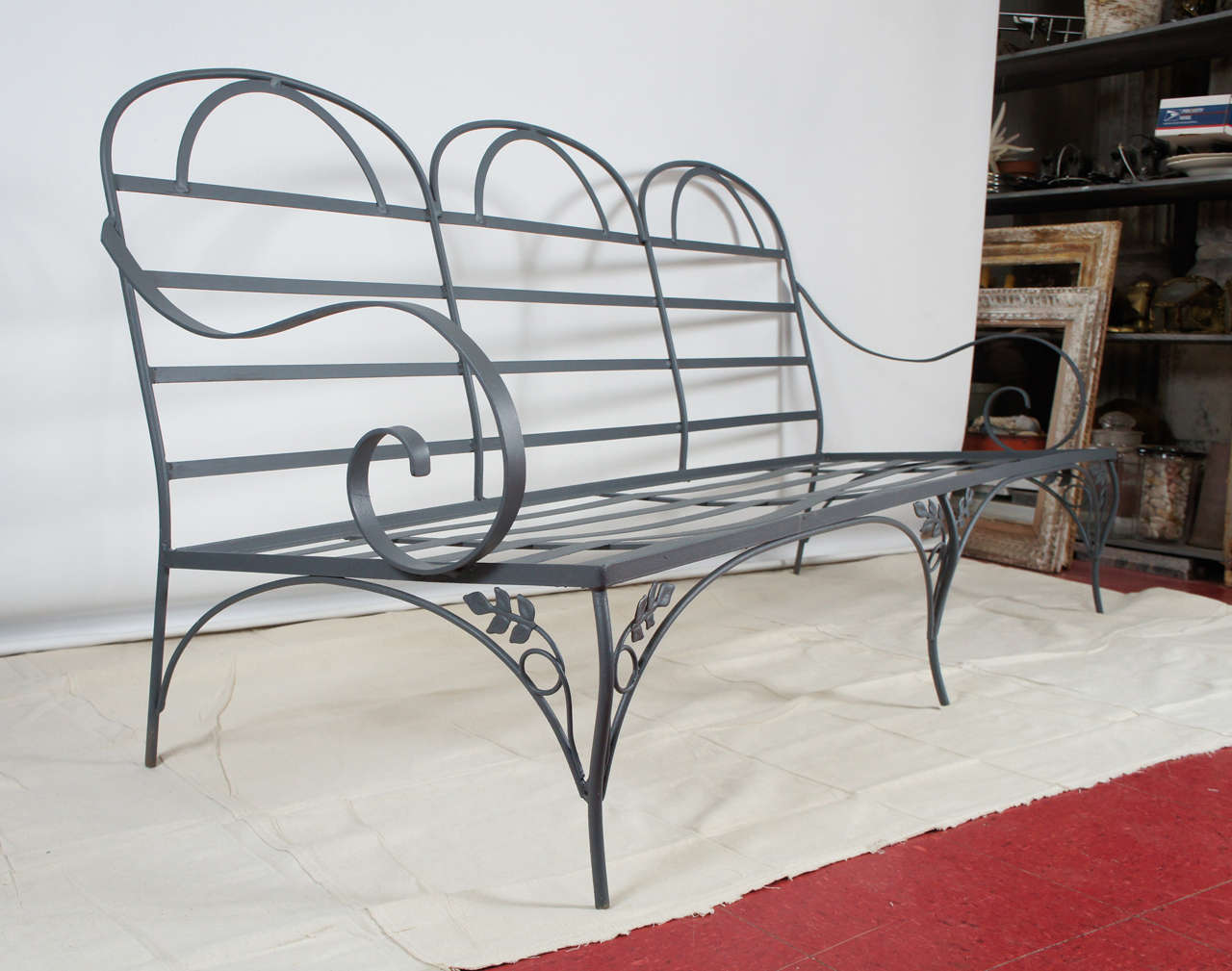 Metal Garden Outdoor Sofa At 1stdibs
