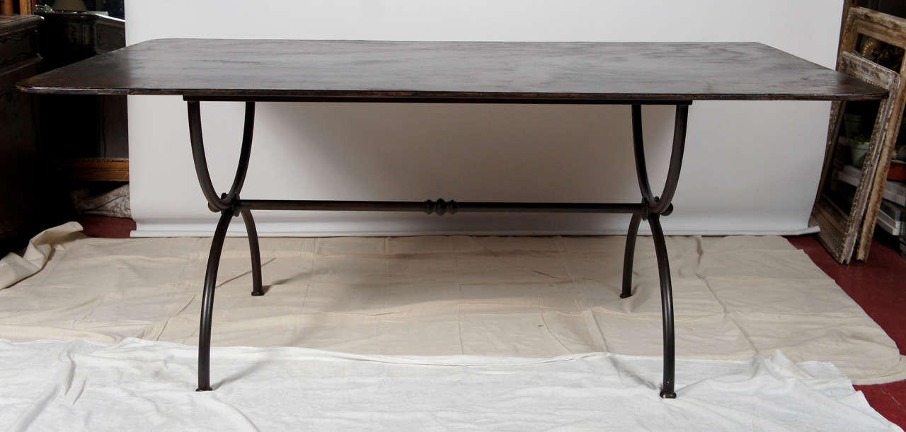 Metal Outdoor Garden Dining Table At 1stdibs
