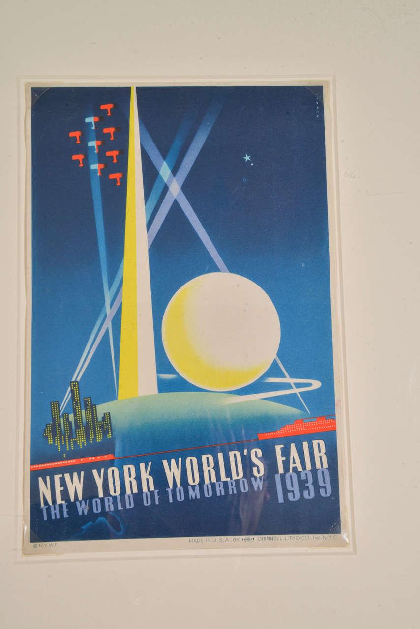 Art Deco Poster New York.Art Deco Machine Age Original 1939 New York World S Fair Posters Triptych