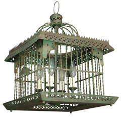 Antique Bird Cage Light
