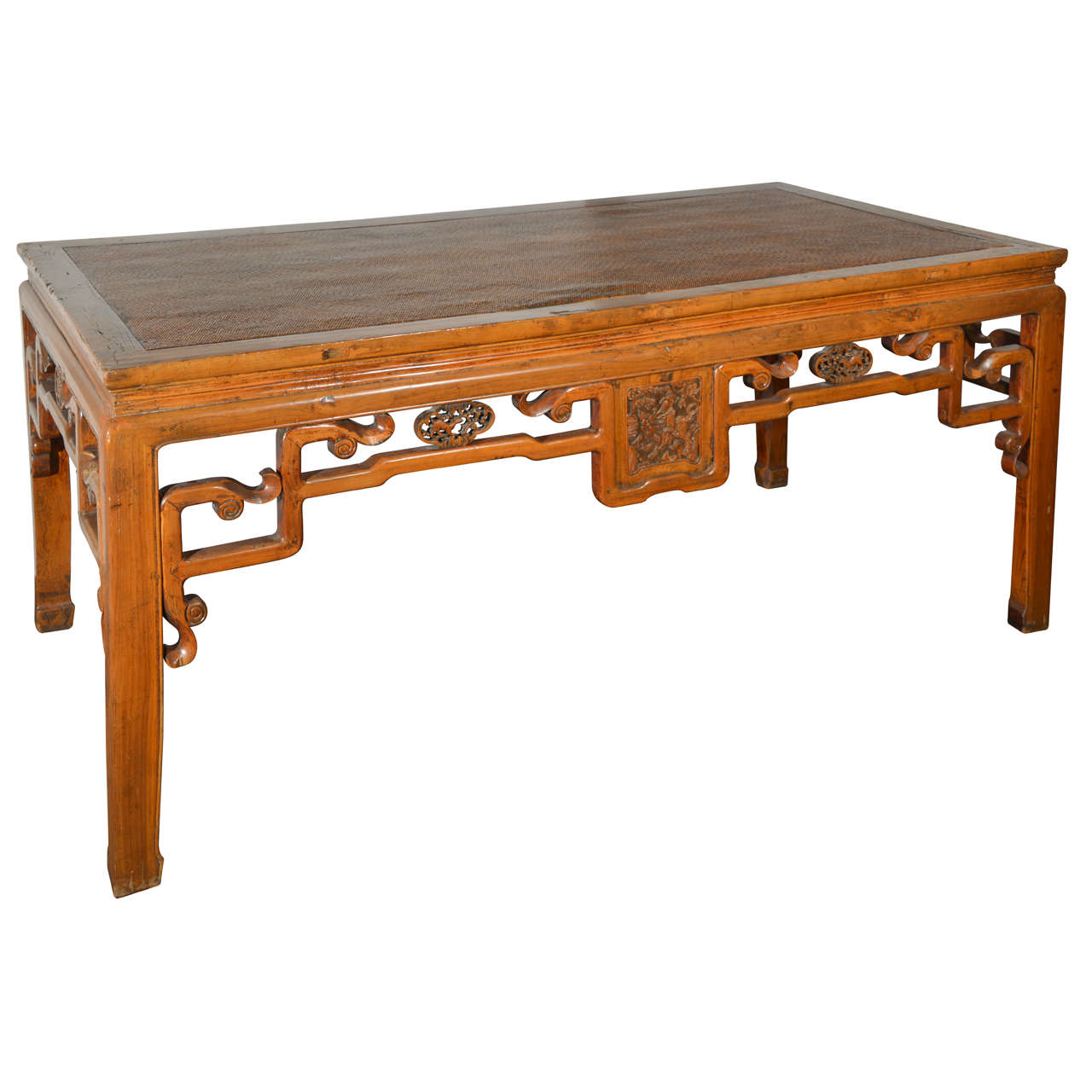 Chinese Carved Table, Qing Dynasty