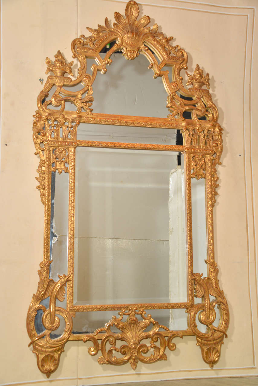 Regence Style Carved Giltwood Mirror Pair Available At