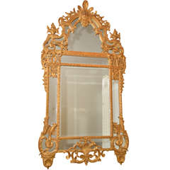 Regence Style Carved Giltwood Mirror, Pair Available