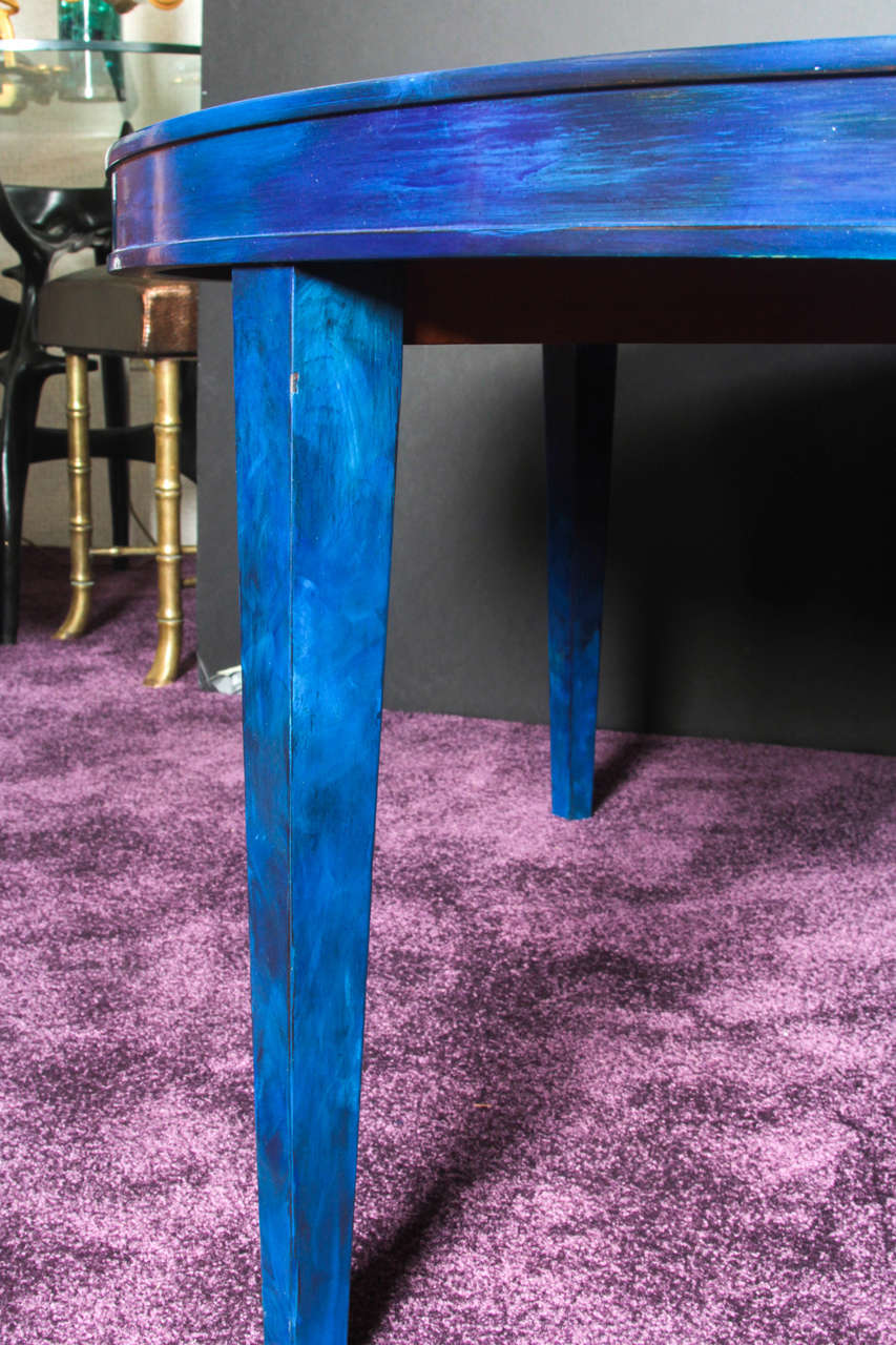 French Etched Brass and Lacquered Coffee Table 5