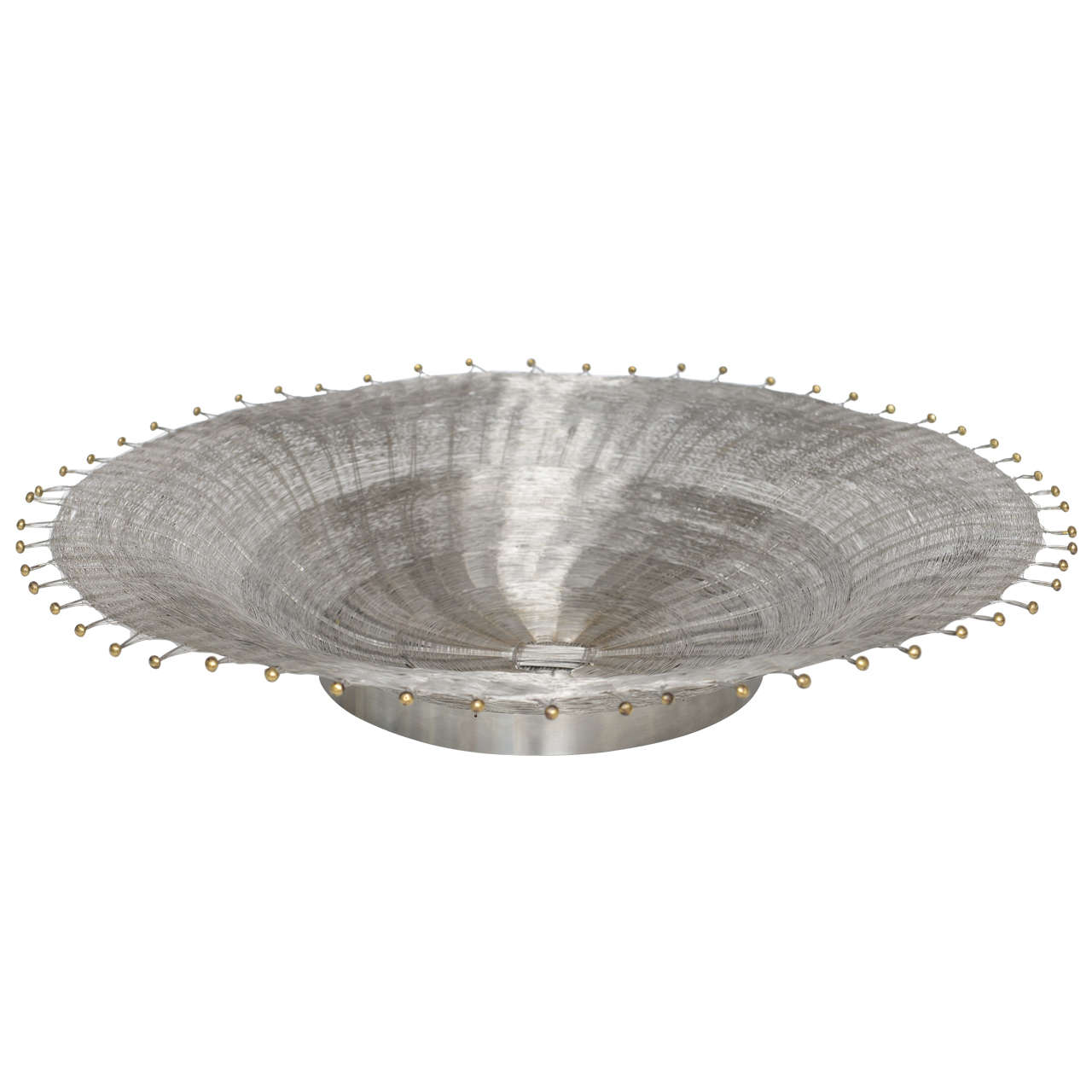 Early Michael Aram Wire Basketweave Bowl At 1stdibs