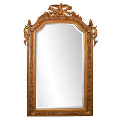 19th c French Louis XVI gilt mirror