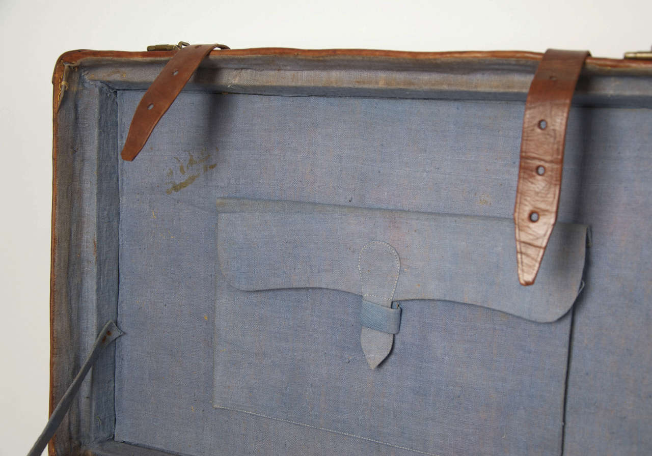 19th C. Leather SUITCASE, English, Very High Quality 10